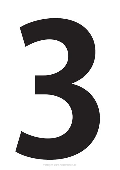 Die Zahl 3 / Drei