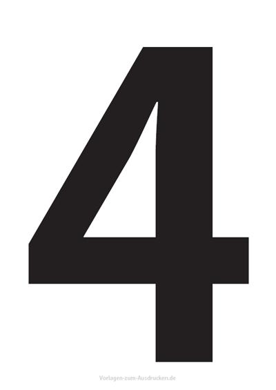 Die Zahl 4 / Vier
