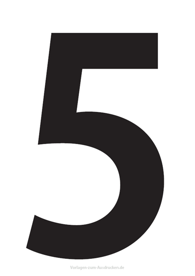 Die Zahl 5 / Fünf