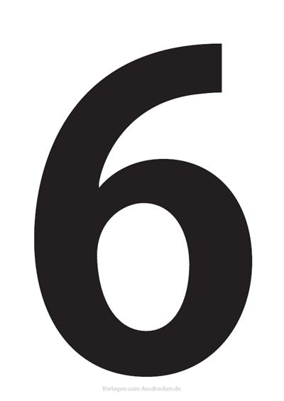 Die Zahl 6 / Sechs