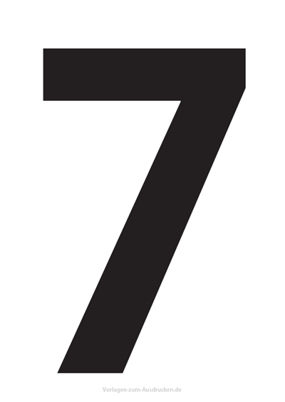 Die Zahl 7 / Sieben