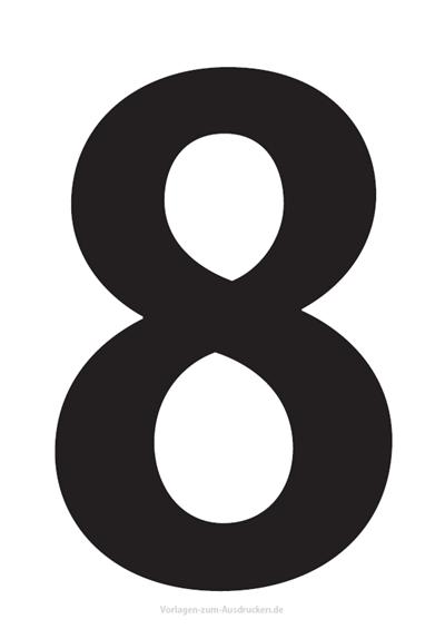 Die Zahl 8 / Acht
