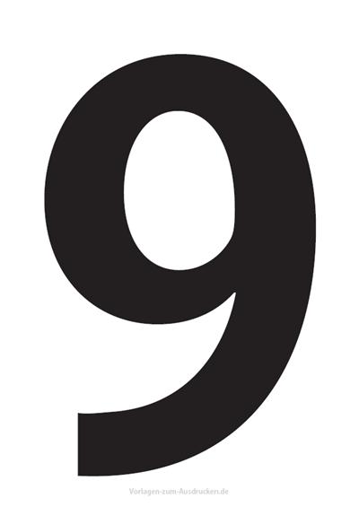Die Zahl 9 / Neun