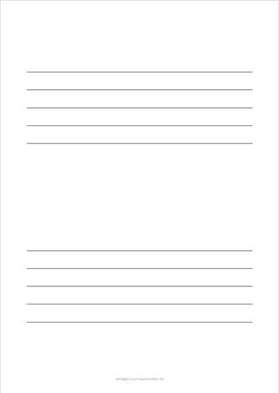 Einfaches Notenblatt Hochformat 2