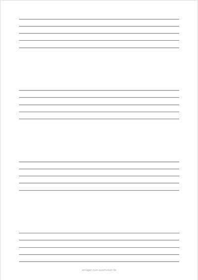 Einfaches Notenblatt Hochformat 4