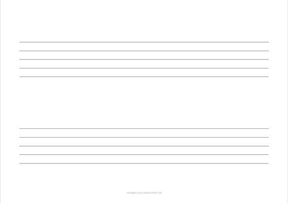 Einfaches Notenblatt Querformat 2