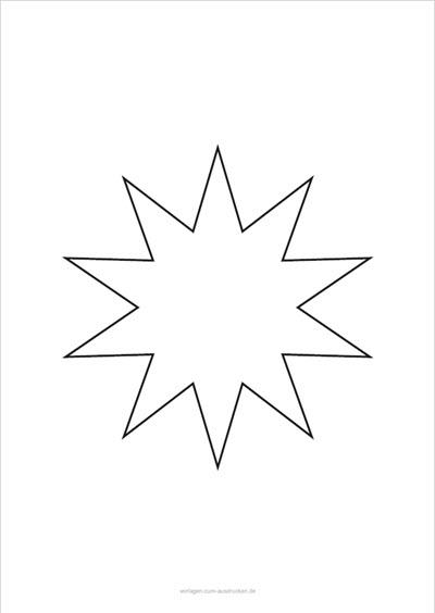 Stern 10 Zacken