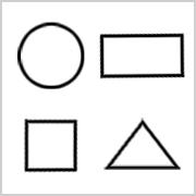 Verschiedene Formen zum Ausdrucken