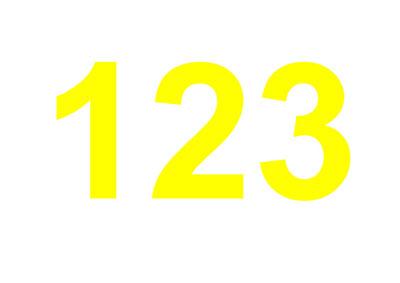 Zahl 123