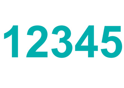 Zahl 12345