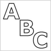 Buchstaben nur Kontur