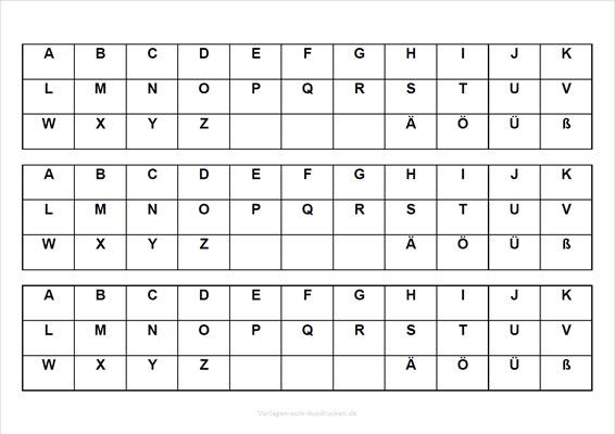 Große Buchstaben zum Lernen