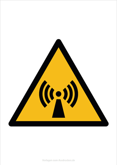Warnung vor nicht ionisierender Strahlung