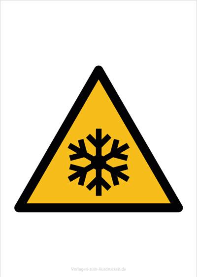 Warnung vor niedriger Temparatur Kälte