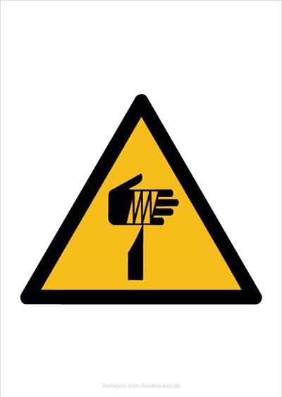 Warnung vor spitzem Gegenstand