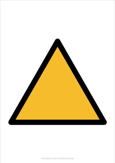 Warnzeichen ohne Symbol
