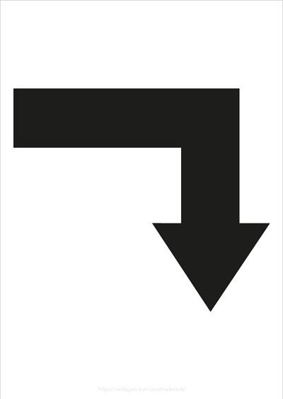 Pfeil rechts abbiegen 2