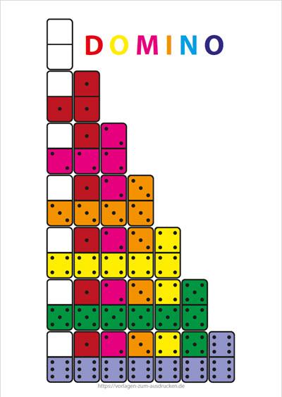 Domino in Farbe