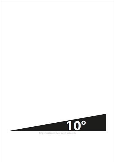 Winkel 10 Grad