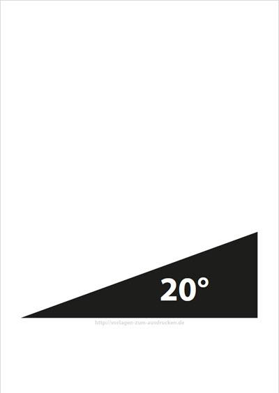 Winkel 20 Grad