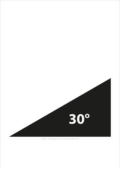 Winkel 30 Grad