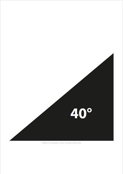 Winkel 40 Grad