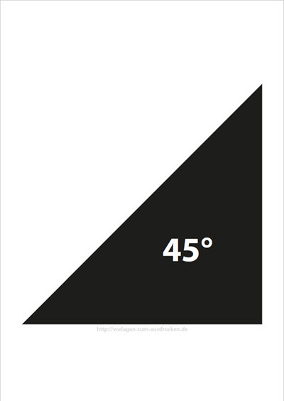 Winkel 45 Grad